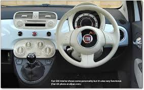 The Beast Car Interior The Fiat 500 The First Fiat Car To Be Made By Chrysler