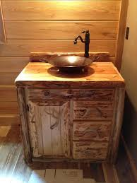 Wood Bathroom Vanities Cabinets by Custom Rustic Cedar Bathroom Vanity Made In Michigan Free