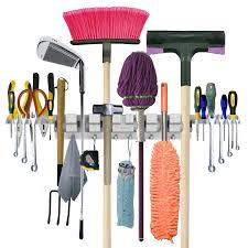 amazon com anybest patented design utility mop broom holders wall
