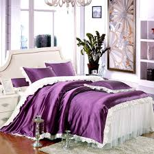 Girls Bed Skirt by Lace Bed Skirt Bedding Sets Purple Print Bedding Set 3d Bedding