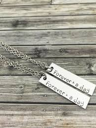 day necklaces forever and a day couples necklaces couples jewelry boyfriend