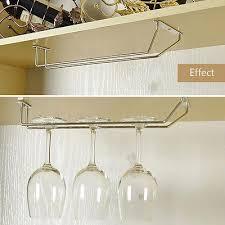 Wine Glass Holder Under Cabinet Wine Glass Holder Stemware Rack Under Cabinet Storage Self Hanger