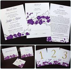 purple and gold wedding invitations purple gold orchid clutch wedding invitations emdotzee designs