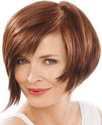 is stacked hair cut still in fashion medium brown straight coloured bob mature layered womens haircut