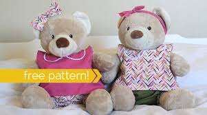 free pattern for easy to sew teddy clothes build a