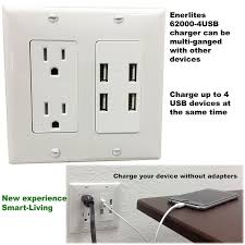 4 port usb charger in wall outlet topgreener