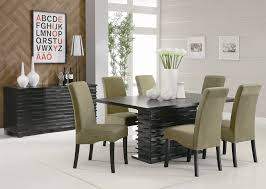 buy set of 4 modern dining black faux leather dining chairs with