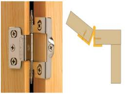 hinges for flush mount cabinet doors with inset door stop and full