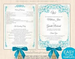 wedding fan programs templates emejing fan wedding program template contemporary styles ideas