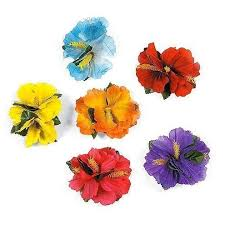 flower leis hula girl hibiscus color assorted flower hawaiian