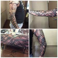 American Flag Tattoos Black And Grey American Flag Sleeve Yelp