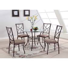 glass metal dining table steve silver carolyn 5 piece dining table set hayneedle