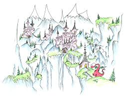 free coloring pages of castles and dragons coloring pages