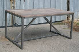 dining room industrial dining table with metal legs for