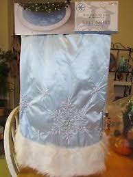 silver tree skirt ebay