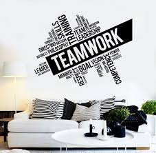 quotes and words wall vinyl decals wallstickersyou teamwork vinyl wall decal word cloud success office decor worker stickers