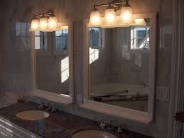 Above Mirror Vanity Lighting Mirror Ideas For Bathroom Brown Decoration Vanity Lights