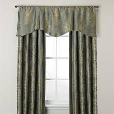 venezia window curtain panel and scalloped valance