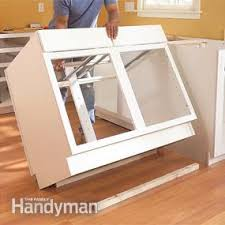 diy kitchen cabinets install how to install kitchen cabinets diy family handyman