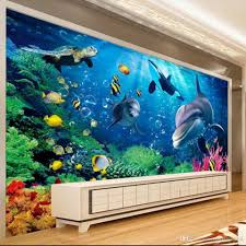 custom large murals space extends 3 d undersea world of lovely custom large murals space extends 3 d undersea world of lovely wallpaper 3d ocean world dolphins tv background wall decoration wallpaper dolphins wallpaper