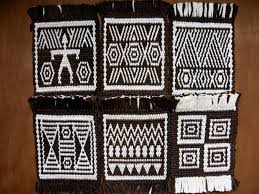 Mug Rug Designs Pattern Charts Double Weave South American And African Mug Rugs
