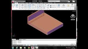 how to create a 3d bed in autocad 2010 in hindi youtube