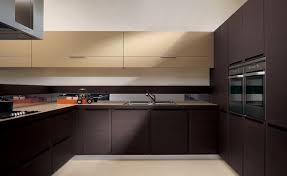 White And Brown Modern Kitchen Cabinets  SMITH Design  Selecting - Modern cabinets for kitchen