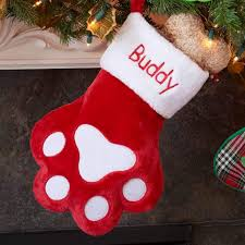 personalized paw christmas stocking dibsies personalization