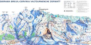 Snow Map Usa by Breuil Cervinia Valtournenche Ski Resort Guide Location Map