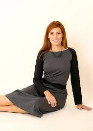 grey jersey dress with black sleeves u2013 tamar landau