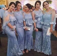 wedding dress brokat contoh desain kebaya seragaman yang unik gaun kebaya