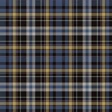 blue and yellow plaid fabric eclectic house spoonflower