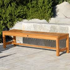 outdoor patio backless bench titan waiting bench