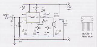 tda1514 40 watt audio lifier circuit
