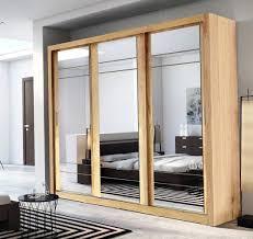 Single Mirror Closet Door Closet Closet Sliding Door Hardware Modern Sliding Wood Closet