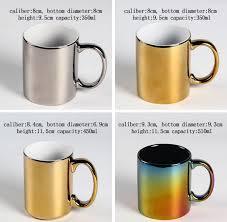 bulk lighted surface mugs customized logo royal gold silver coffee