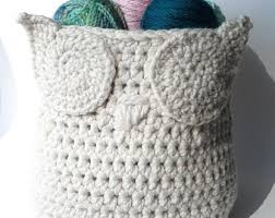 free crochet patterns for home decor crochet pattern owl basket crochet pattern by crocheteverafter el