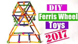 diy toy ferris wheel using popsicle sticks easy crafts project