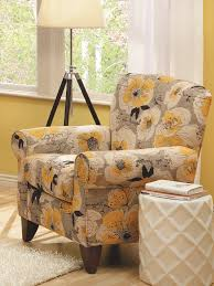 Chair Best Accent Chairs Floral Occasional Gold Jacquard - Floral accent chairs living room
