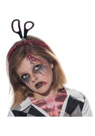 Scary Halloween Costumes Girls Headband Scissors Blood