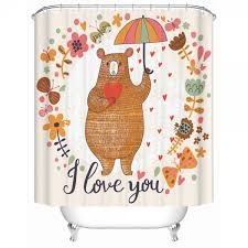 Teddy Shower Curtain Buy Bathroom Shower Curtain I You In Dubai Abu Dhabi