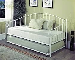 twin size daybed with trundle amazon com twin size white metal day bed frame with pop up high