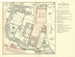 samuel ball platner detailed maps of the forum palatine and