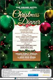 christmas dinner menu by romacmedia graphicriver