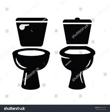 Black Toilet Symbol Vector Illustration On Stock Vector 562347412