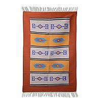 Indian Hand Woven Rugs Wool Indian Rugs At Novica