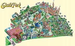 Six Flags America Map by Paramount U0027s Great America 1998 Theme Park Maps Pinterest