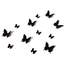 amazon com 12pcs 3d black butterfly wall stickers art decal pvc amazon com 12pcs 3d black butterfly wall stickers art decal pvc butterflies home diy decor clothing