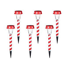 Outdoor Candy Cane Lights by Home Holiday Christmas 12 Candy Cane Solar Led Color Changing