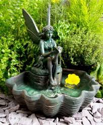 solar fountains with lights mini fairy on clamshell solar water fountain with led lights